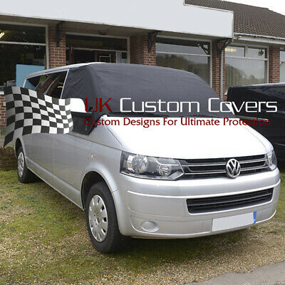 Vw T5 T6 Transporter Deluxe Windscreen Screen Curtain Wrap Cover 190 Black