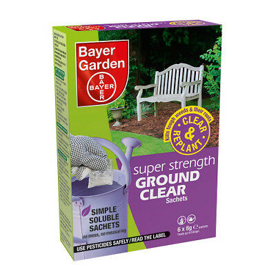Super Strength Ground Clear Weedkiller 6 sachet Bayer Garden
