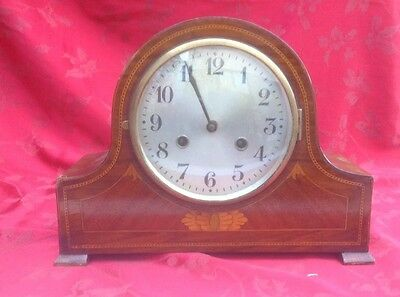 Inlaid Edwardian Mantel Clock For Restoration Very Nice Case