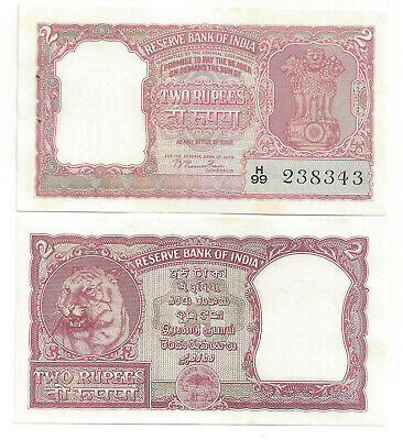 Indien India 2 Rupees Tiger Unc- P 28