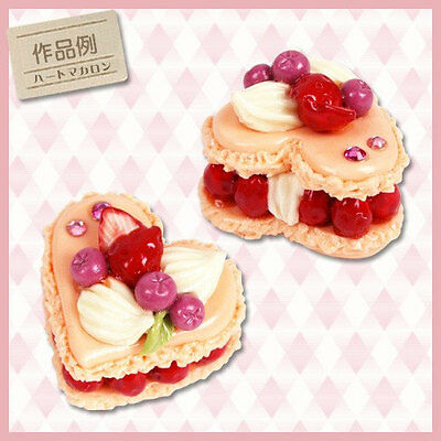 Japan Decoden Mini Clay Soft Mold - Heart Macaroon Creamy Tasty Dessert