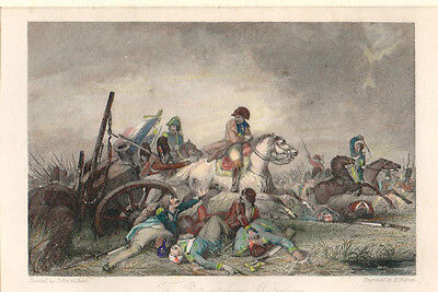Lithographie The Retreat from Waterloo kolor. France Militaire Napoléon (Ra86)