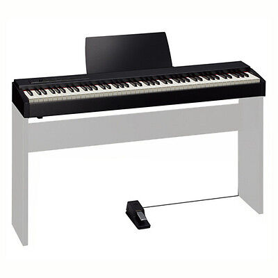 Roland F-20 Black 88-Key Digital Piano Keyboard With Music Rest & Damper Pedal