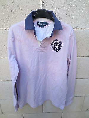 Polo Ralph Fit S Lauren Manches Custom Rose Longues Broderie Clair K3clT1JuF