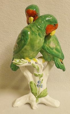 Spode Copeland Pair of Lovebirds With Glass Eyes. Beautiful Condition