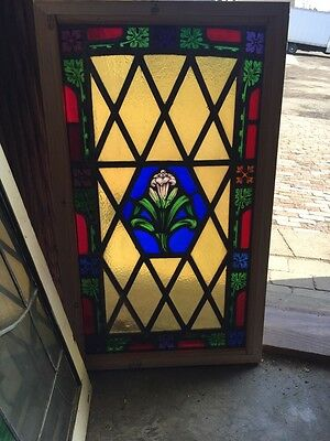 Sg 521 Antique Painted In Fired Calla Lily Floral Window