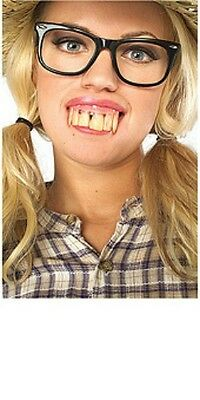 Hill Billy Dirty Buck Crooked Fake Teeth Denture Tooth Redneck Costume Halloween