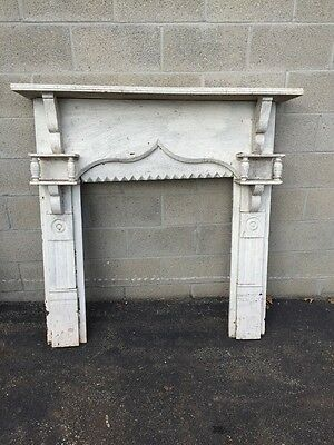 Cm 01 Early Antique Painted It White Fireplace Mantle