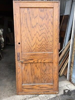 Cm 49 Antique Oak Two Panel Pocket Door