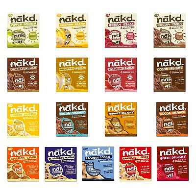 NAKD Fruit & Nut Wholefood Bar Raw Vegan Gluten Free No Added Sugar 4 x 35g