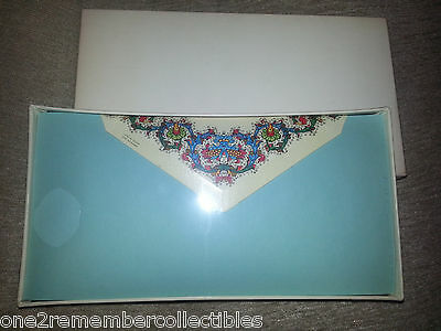 Paper Factory 24 STATIONARY SHEETS & ENVELOPES Vintage Flowers Floral ITALY New