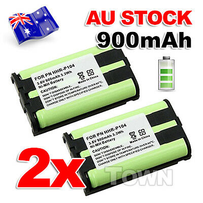 2x 3.6V 900mAh Ni-MH Cordless Phone Battery Replacement For Panasonic HHR-P104
