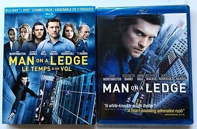 New Sealed Man On A Ledge Blu Ray Dvd Canadian Exclusive + Slipcover Sleeve