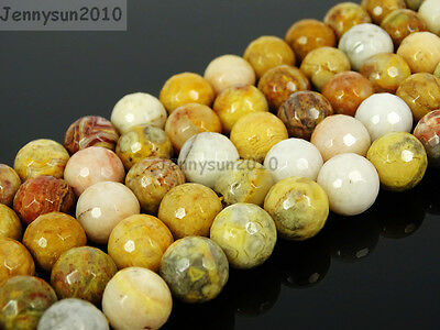 Natural Crazy Lace Agate Gemstone Faceted Round Beads 15.5'' 4mm 6mm 8mm 10mm