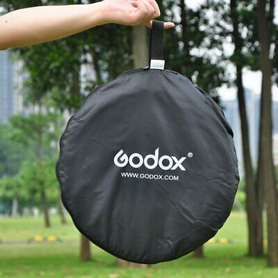 Original Godox 5 in 1 60cm Collapsible  Lighting Diffuser Round Reflector Disc