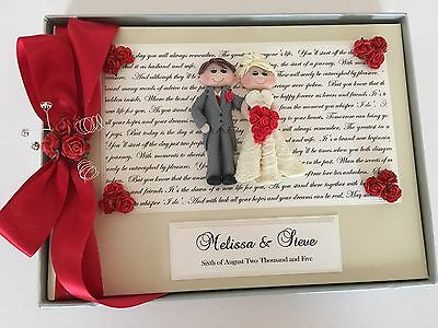 PERSONALISED CHARACTER WEDDING GUEST BOOK - All Colours 52 Page Book