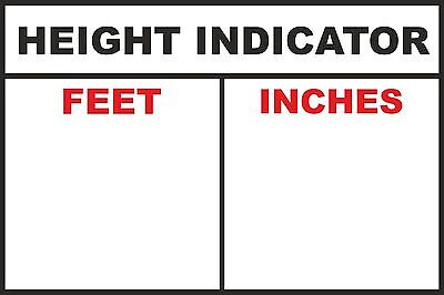 2 x COMMERCIAL VEHICLE CAB HEIGHT INDICATOR HGV Sticker 15cm 6 inch Decal