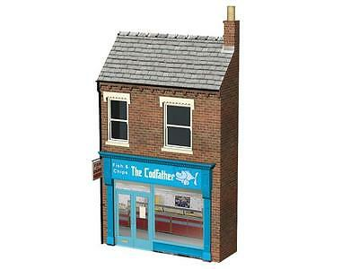 BACHMANN SCENECRAFT 44-266 1:76 OO SCALE Fish & Chip Shop 'The Cod Father'