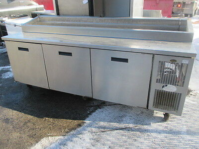 "8395N Randell 3 Door Pizza Prep Table - 95""  - Refrigerated"