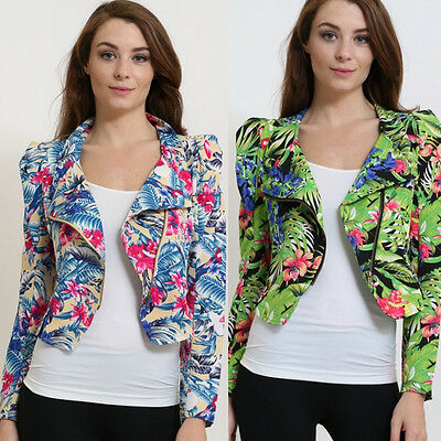 [Wholesale] Tropical Print Fashion Jacket Cropped 6 Pcs. (2S, 2M, 2L)