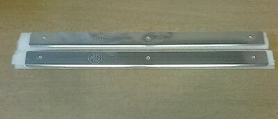 MGTF DOOR SILL PLATE TREAD COVERS X 2 New BRIGHT FINISH Genuine EAP100790MMM