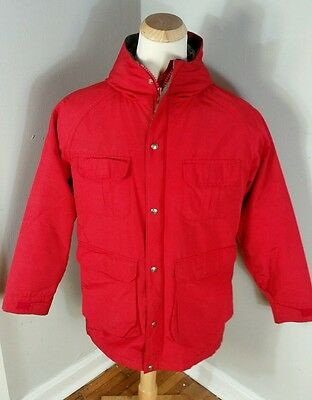 Vtg Distressed 70s 80s Woolrich Wool Flannel Lined Mountain Parka Coat Jacket M