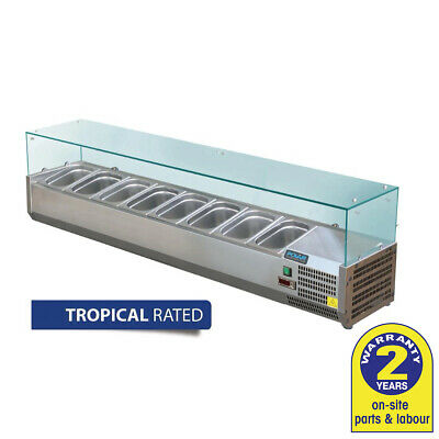 Polar Cold Prep Bar Refrigerated 1800mm Servery Pizza Salad Ingredient Topper