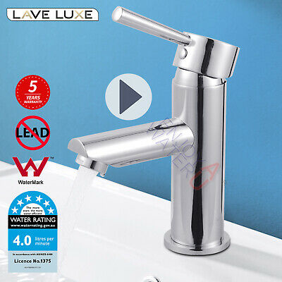 Lead free Round Basin Flick Mixer tap Bathroom Vanity brass chrome Faucet WELS