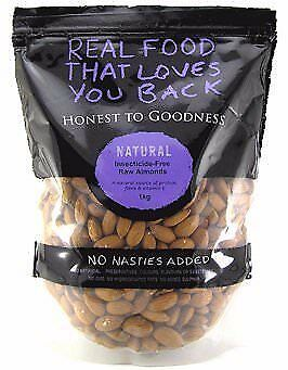 Honest To Goodness Australian Almonds Raw (Insecticide Free) 1kg