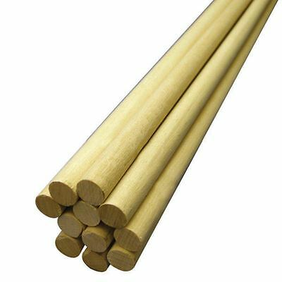 Hardwood Dowel 1/2 x 36 Inches Wooden Support Stick To Cut Paint School Projects