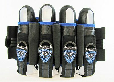 NXE 2013 Elevation Paintball Harness/ Pod/ Battle Pack - 4+3+2 Blue