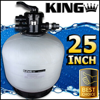 "25"" Swimming Pool Sand Filter - 25 Inch Pool Filter Fiberglass Fibreglass New"