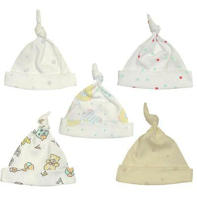 BABYPREM Baby Girls Boys Unisex Premature Prem Tiny Baby Cotton Knotted Hat Hats