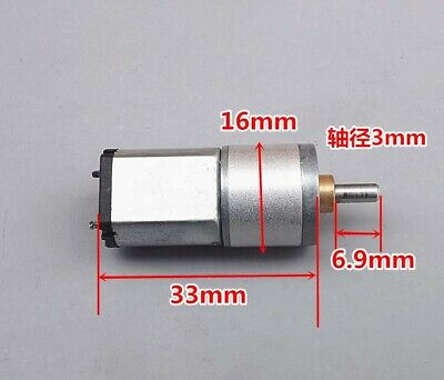 NEW 030 Micro DC Gear Motor DIY Making machine 6V-12V 118 rpm Small motor Hot