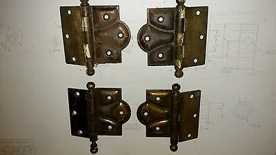 Reclaimed Vintage offset surface mount Stanley Hinges. Lot of 4.