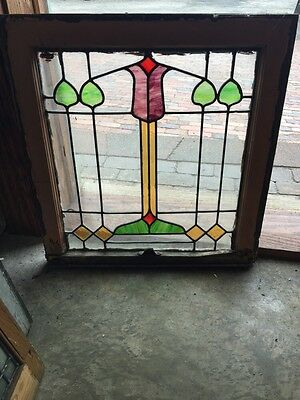 Sg 543 Antique Arts And Craft Stainglass Leaded Window