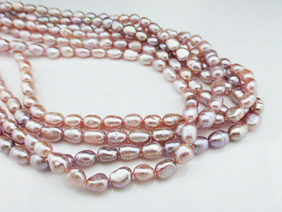 """Burgundy Red Freshwater Pearl Rice Beads 6-7mm - 15"""" Strand ( approx 40 pearls)"""