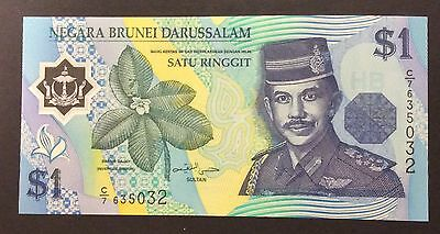 1996 $1 Brunei Polymer Banknote - Pick 22a - Unc C/7635032