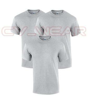 Pack Of 3 Plain Gildan Heavy Cotton T Shirt Tshirt Men Womens Present New Unisex