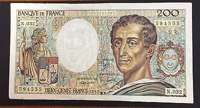 1985 200 Francs France Banknote - 594555 circulated condition