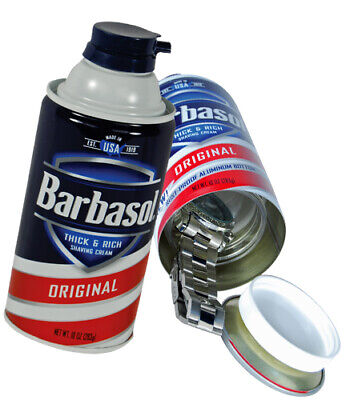 Barbasol Shaving Cream Diversion Safe - Hide Cash Jewelry Papers & Medicine