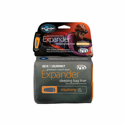 Sea To Summit Expander Liner Mummy With Hood Navy