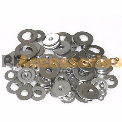 "80 Pcs Zinc Plated Steel Flat Washers Set Assortment Kit 3 Size 1/2"" 5/8"" 11/16"""