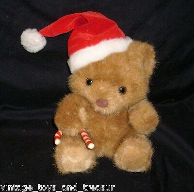 Vintage Russ Berrie Brown Sweetie Christmas Teddy Bear Stuffed Animal Plush Toy