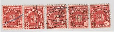 (UST-569) 1931 USA 5 MIX 2c TO 30c POSTAGE DUES (D)