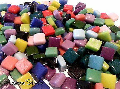 Glass Opaque Squares 12x12mm - 1kg - Mixed