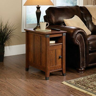 Sauder Carson Forge Side Table Washington Cherry Finish  (414675) Made in US NEW