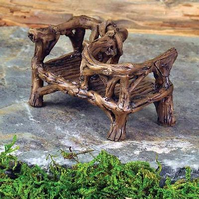 Fiddlehead Fairy Garden Accessory Miniature Rustic Courting Bench