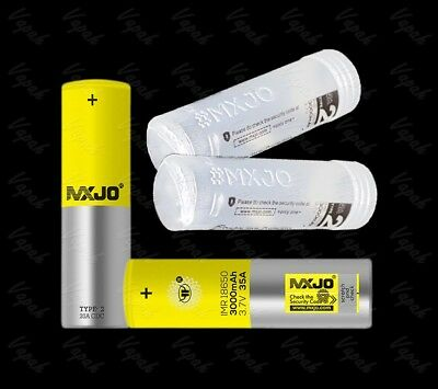 2 MXJO  3000mAh 35A IMR 18650 HIGH DRAIN Flat Top Rechargeable Battery