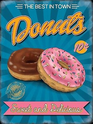 Donuts 50's American Diner Cafe Kitchen Food Sweet Retro Quality Fridge Magnet